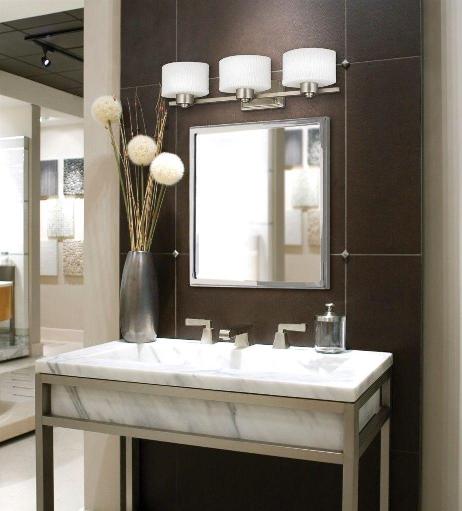 Bathroom Lighting Fixtures Over Mirror Contemporary Bathroom