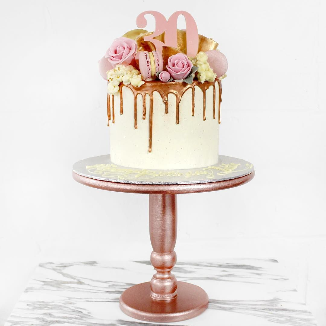 A Special Rose Gold Cake For A Harrods Client How Good