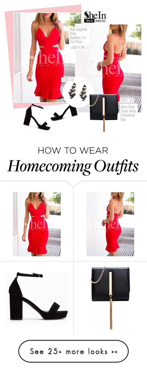 """Homecoming queen: SheIn (9/6)"" by merima-kopic on Polyvore featuring Nly Shoes and shein"