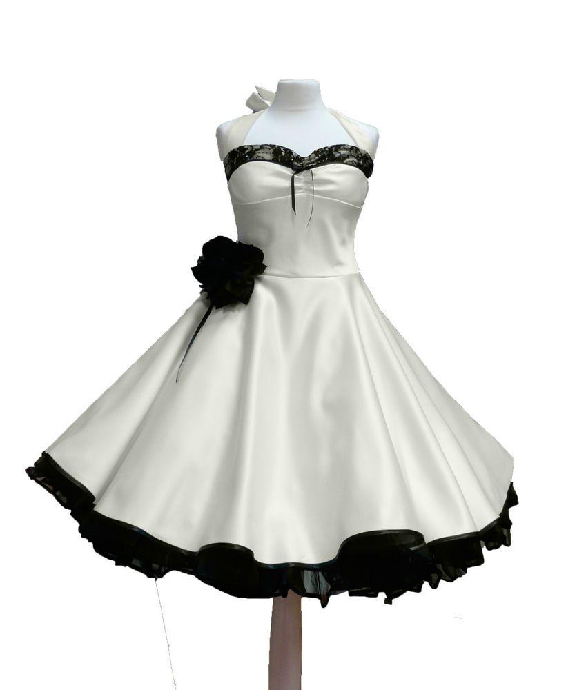 Rockabilly Brautkleid knielang Hochzeitskleid 18er ivora creme