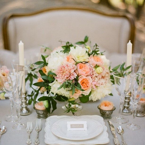 Spring Wedding Centerpiece Ideas: Romantic White And Blush Flower