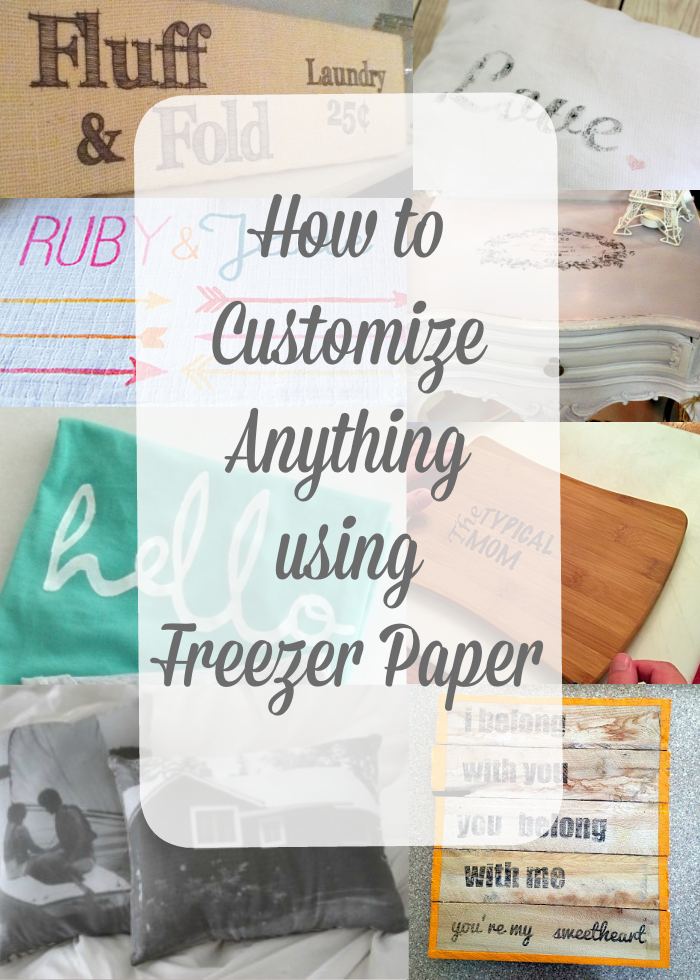 How to print using freezer paper easy how to diy instructions on easy how to diy instructions on how you can use freezer paper to personalize pillows shirts wood signs and more spiritdancerdesigns Images