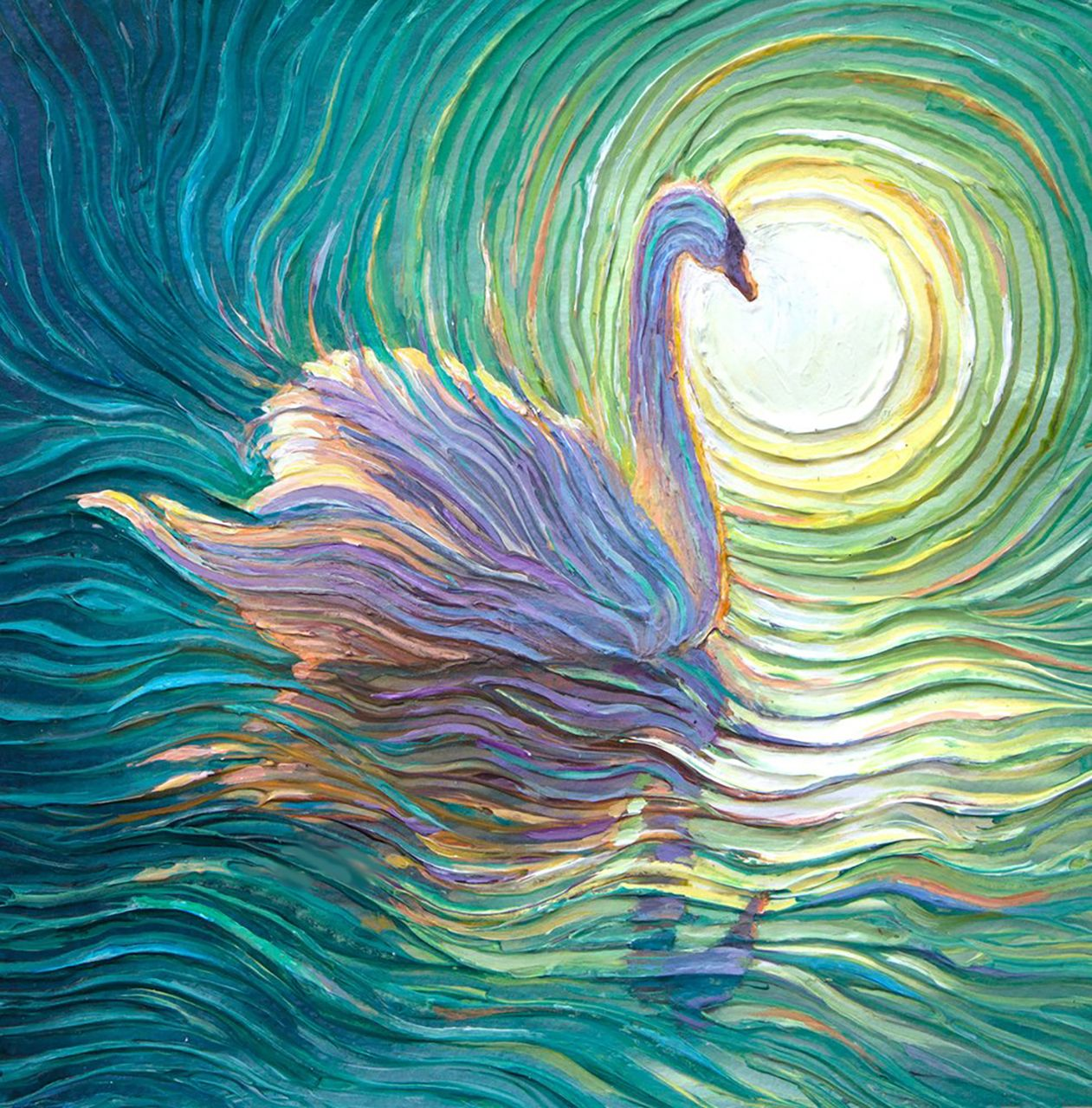 Swan Oil Painting Giclee Print