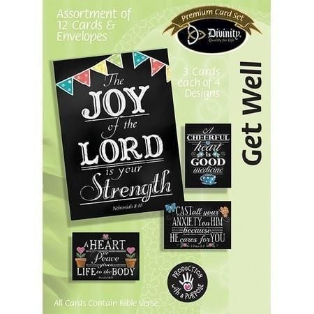 Get well boxed cards chalk art box of 12 christian greeting get well boxed cards chalk art box of 12 m4hsunfo