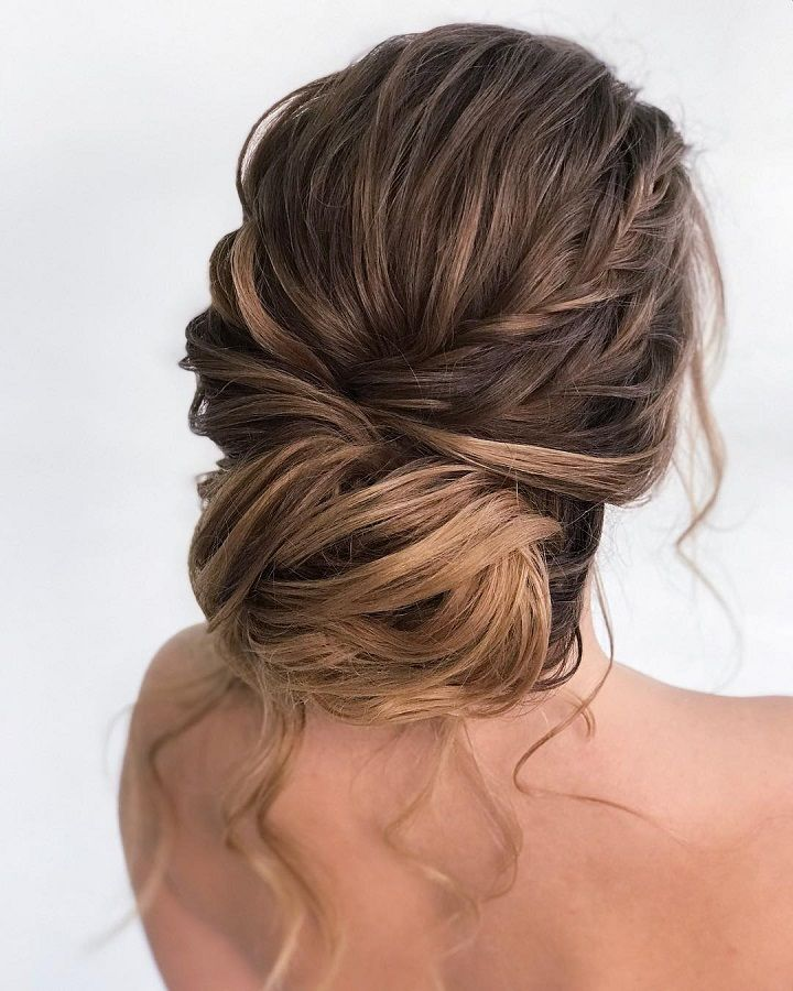 Gorgeous chignon wedding hairstyle,Double loose dutch ...