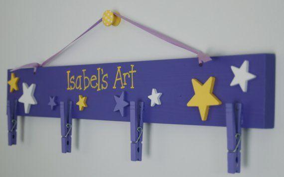 Personalized Wooden Art Hanger Medium Size Hanger Etsy