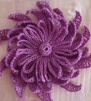 Цветочек крючком на шапочку схема фото 315