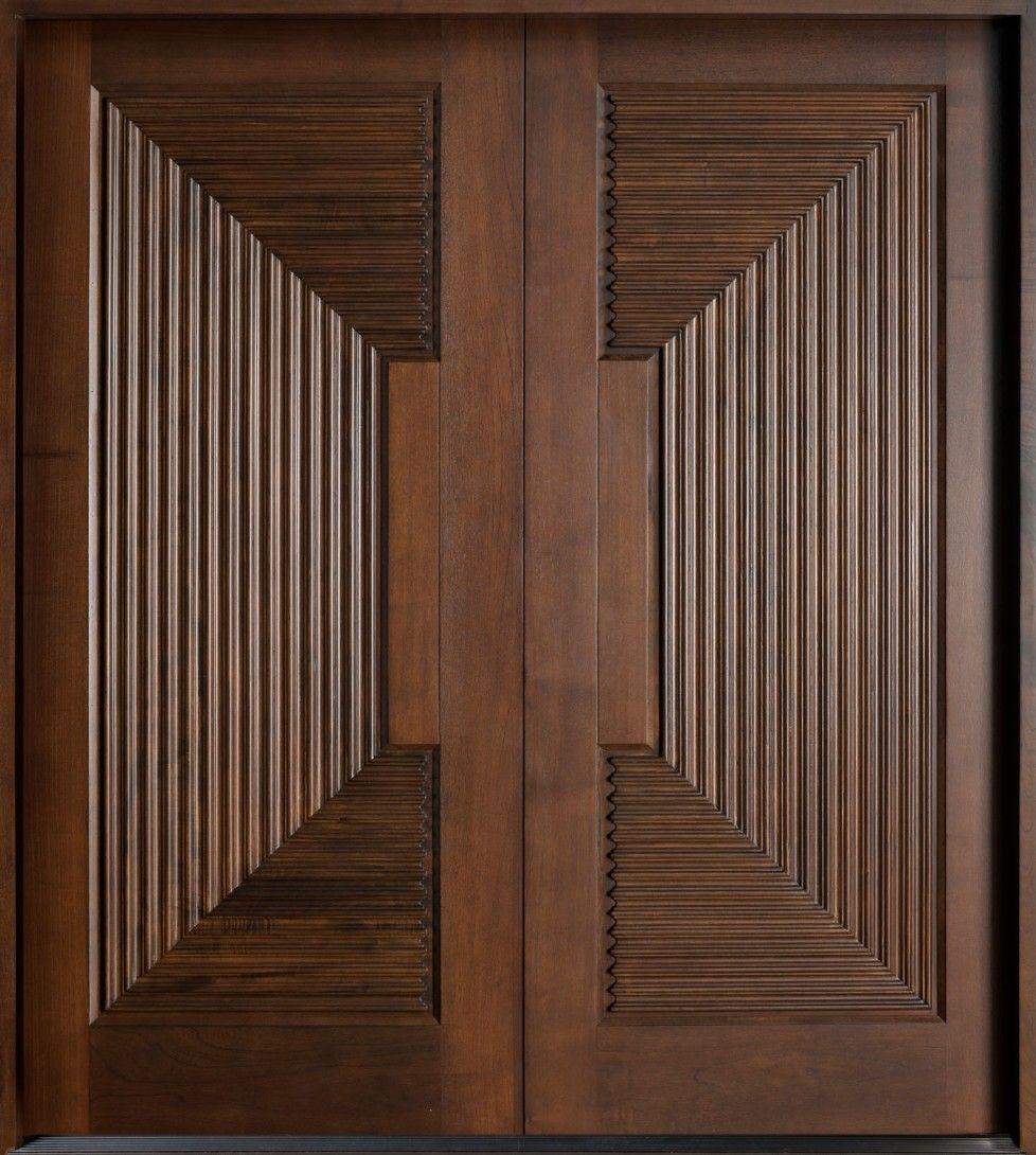 Amazing 3d Look Double Custom Solid Wood Doors Interior Italian