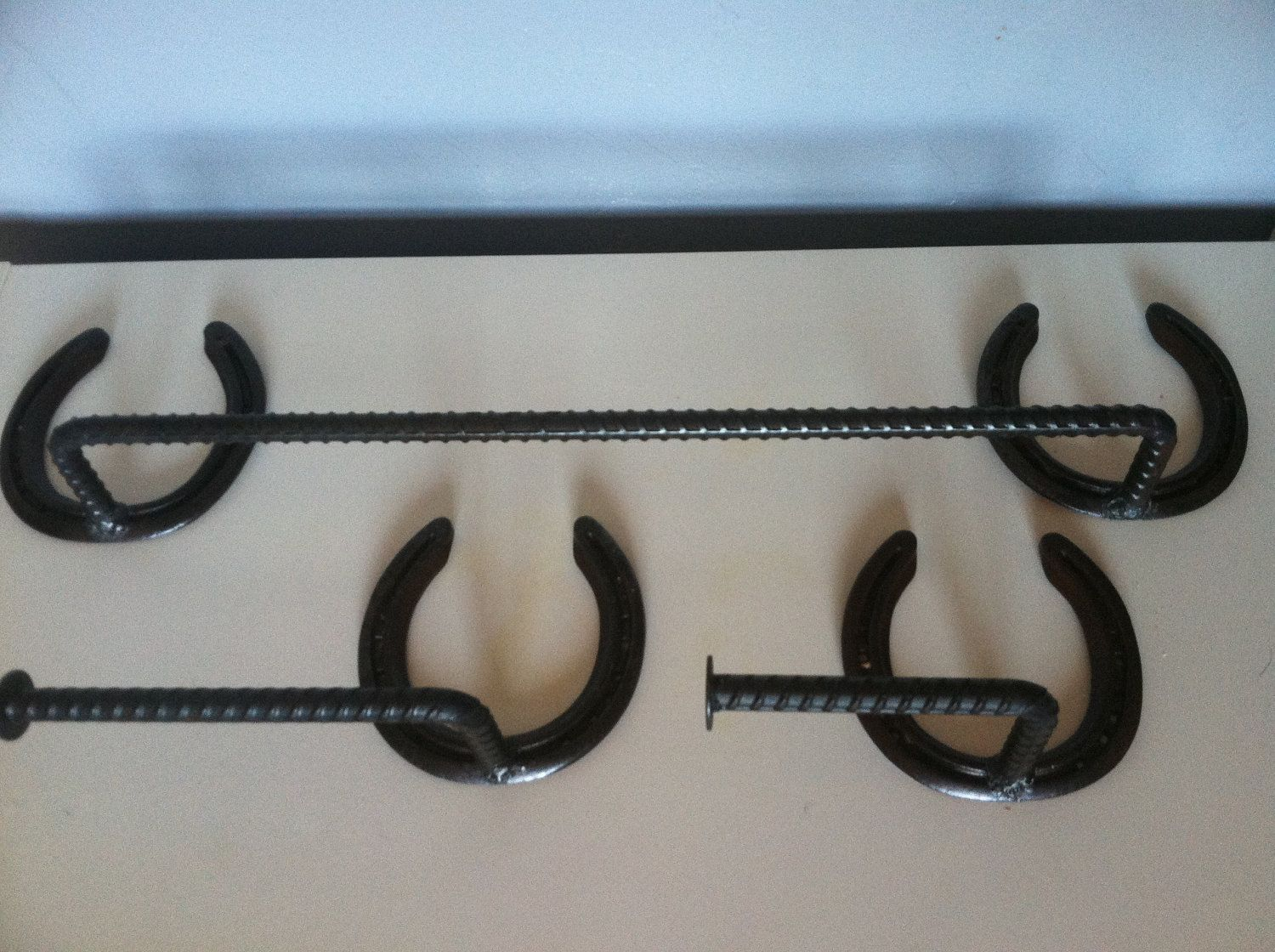 Towel Rack Set Bathroom Toilet Paper Holder Western Horseshoe 35 00 Via Etsy