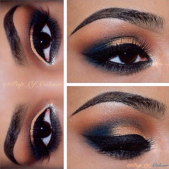 12 Easy Prom Makeup Ideas For Brown Eyes | Orange-Braun, Braun-Beige ...
