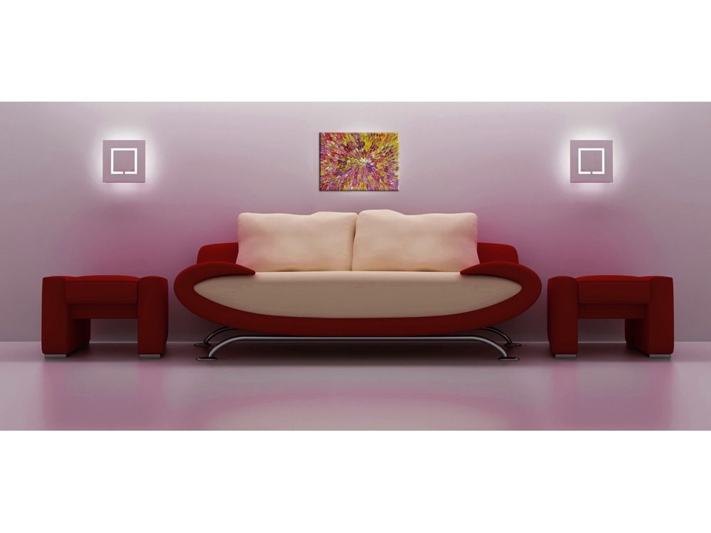 "ABORIGINAL ART PAINTING by ESTHER FURBER ""BUSH MEDICINE"" 45 x 32 cm"