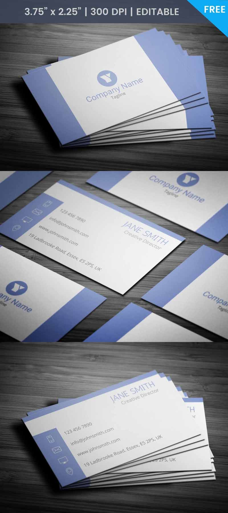Free creative director business card template free business card free creative director business card template reheart Images