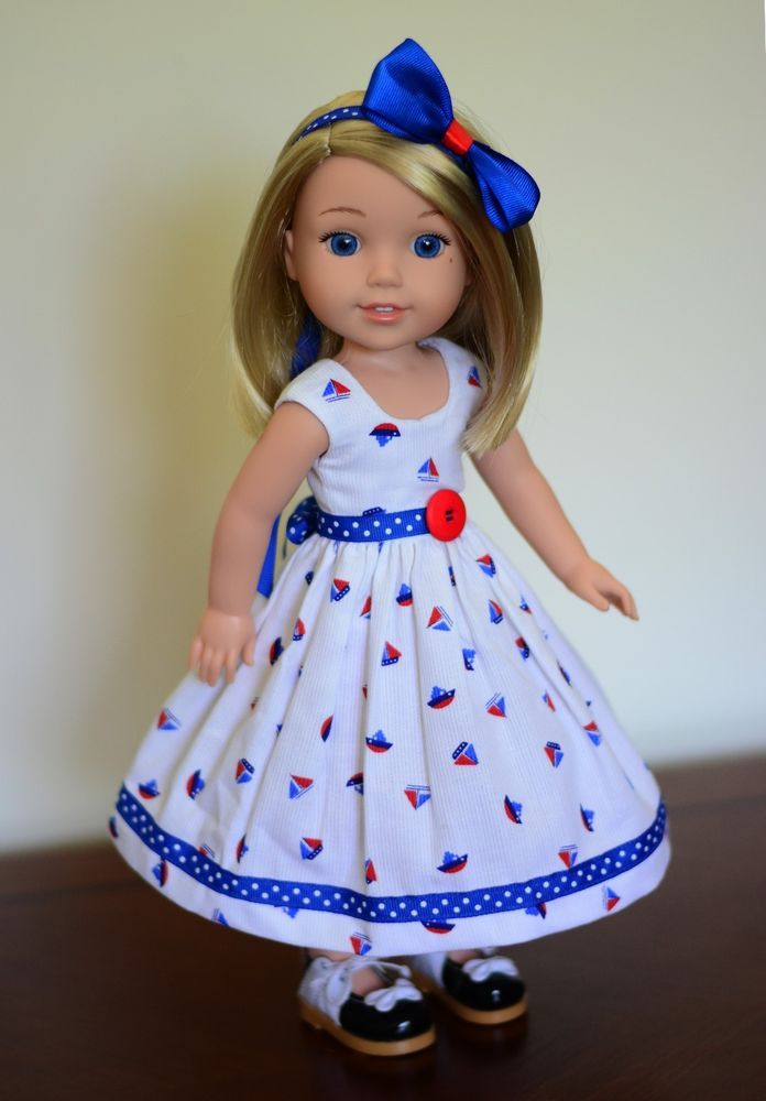 little sailor dress outfit clothes for american girl wellie wishers pinterest mini mall. Black Bedroom Furniture Sets. Home Design Ideas