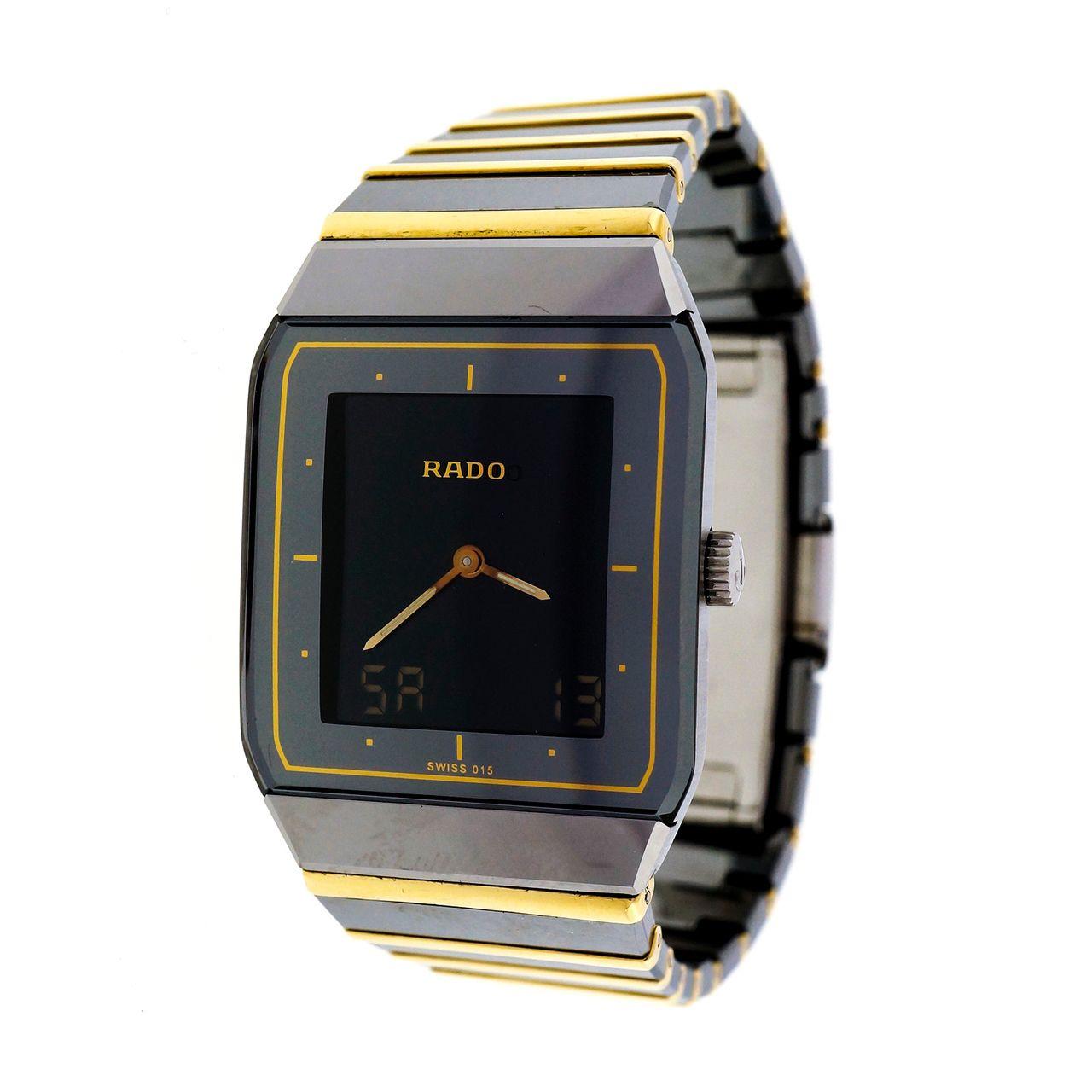 d2db9862d12 Men s Rado Diastar Ceramic 18k Analogue Digital Wrist Watch -  petersuchyjewelers