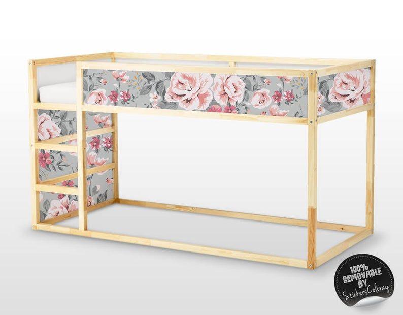 Best Decals For Kura Bed Ikea Vintage Floral Sticker Set 400 x 300