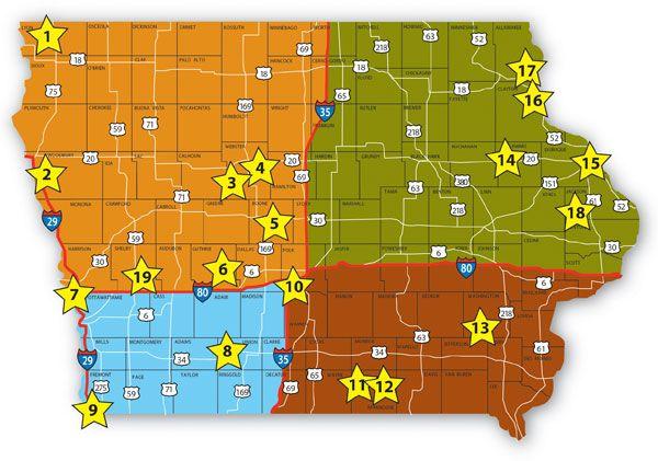 Iowa State Parks Map | compressportnederland