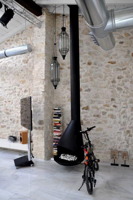 Chimenea Chimeneas Pinterest Hogar, Calor y Casas contenedores - tipos de chimeneas