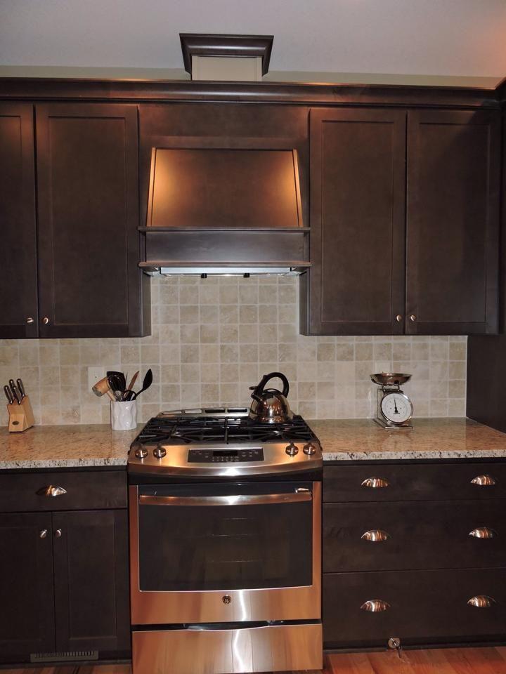 Kitchen Cabinet Homecrest Cabinets Maple Buckboard Kitchen Top Granite Giallo Ornamental Raised