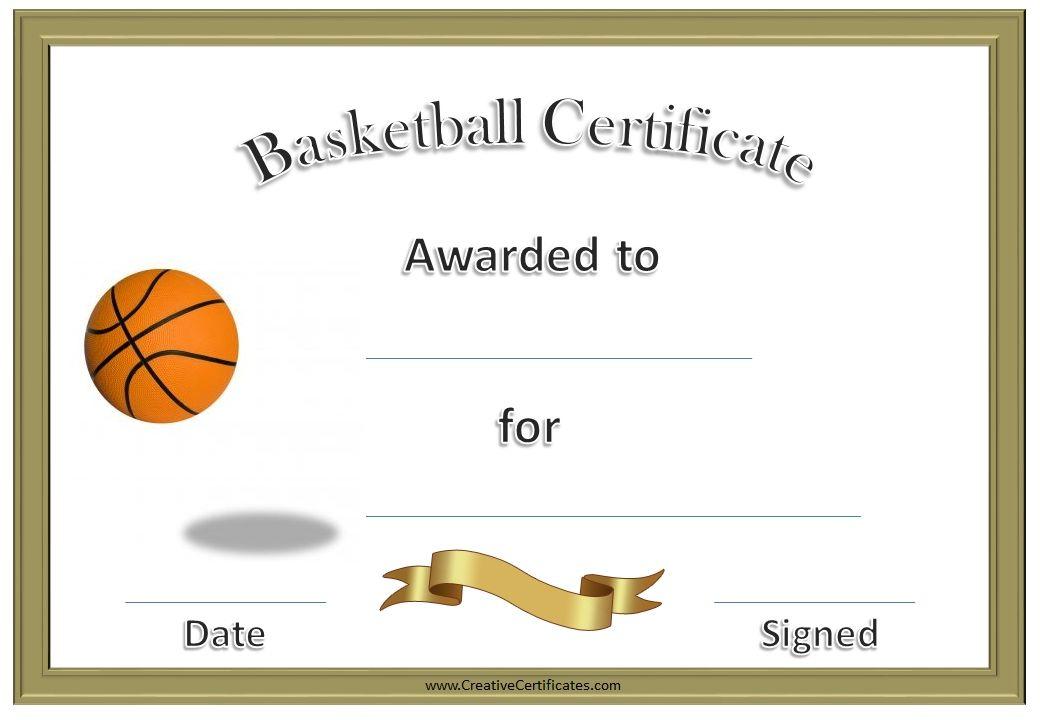 Basketball Certificates Kids Pinterest Basketball Awards