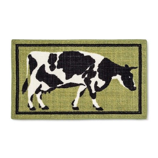 "Green Cow Kitchen Rug (20""X34"")"
