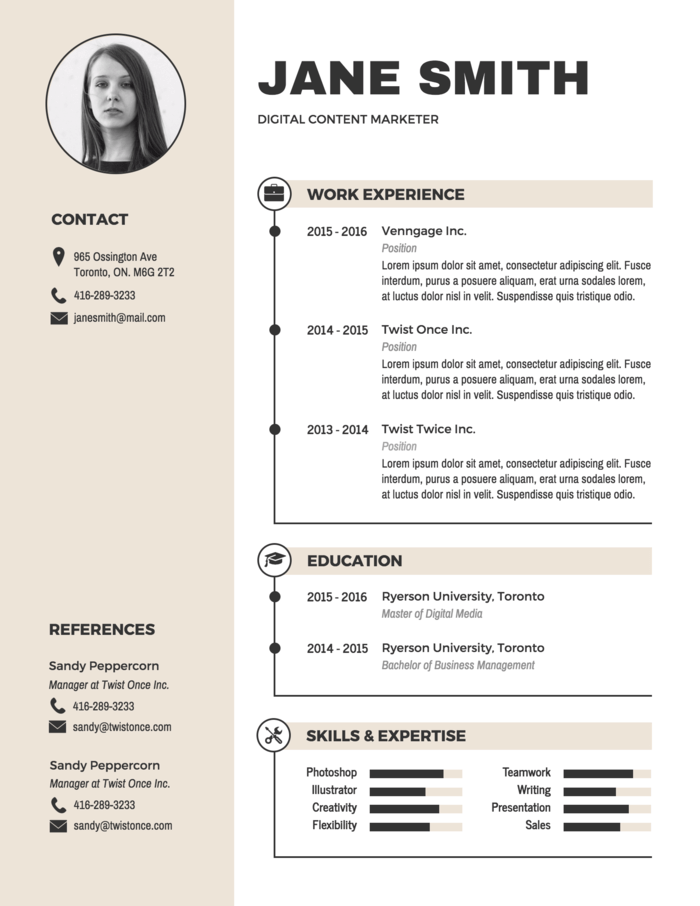 Free Resume Cv Maker Get Started In Minutes Cv Kreatif Desain Cv Desain Resume