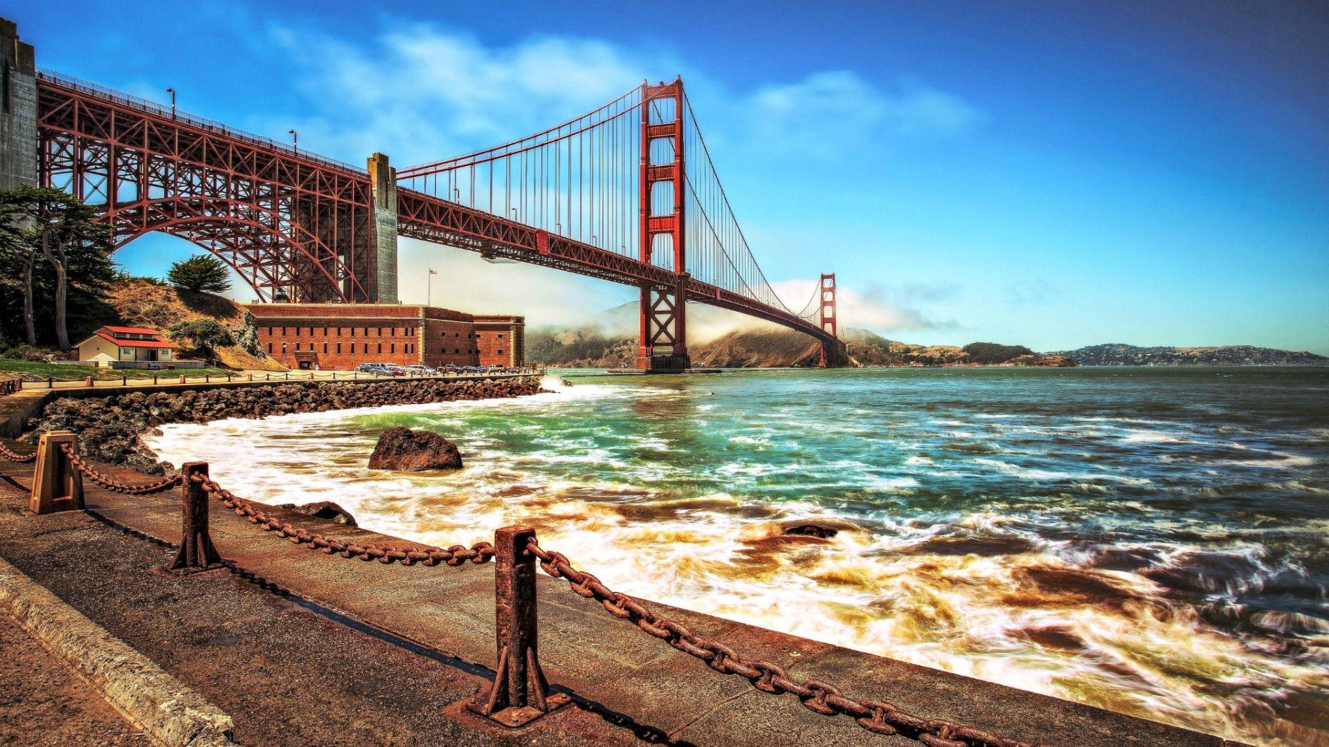 Golden Gate Bridge Wallpapers High Quality Download Free Golden Gate Bridge Wallpaper San Francisco Golden Gate Bridge Golden Gate Bridge