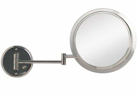 Zadro Sw47hw 7x Satin Nickel Double Arm Wall Mirror