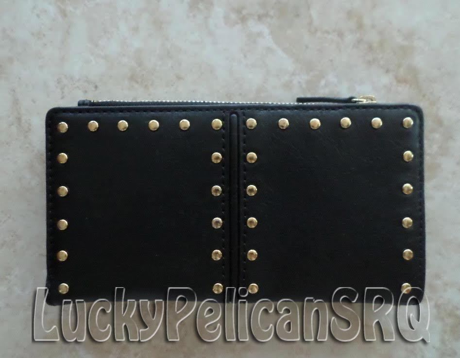 2cfe751ff6b7 new zealand michael kors astor studded black gold leather id wallet clutch  nwt michaelkors wallet 6eed6