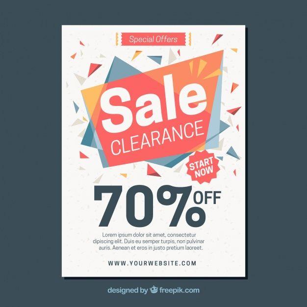 Abstract Sales Brochure Free Vector  Sale    Brochures