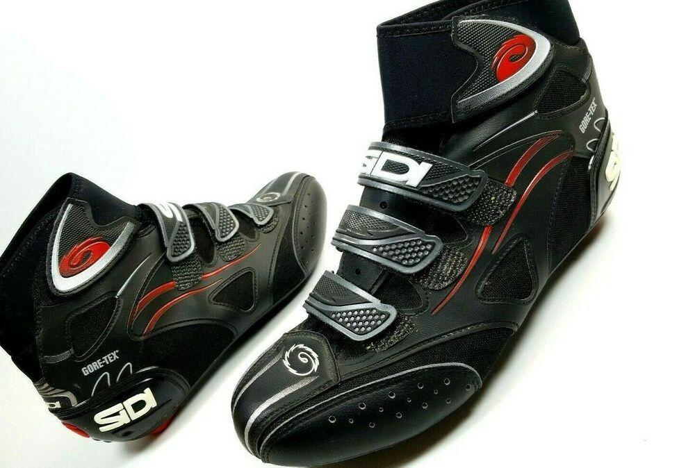 new arrival a0173 bc432 Sidi Hydro GTX Winter Shoes Mens Size 46 Gore Tex Road WInter Spring Fall  SIDI Road