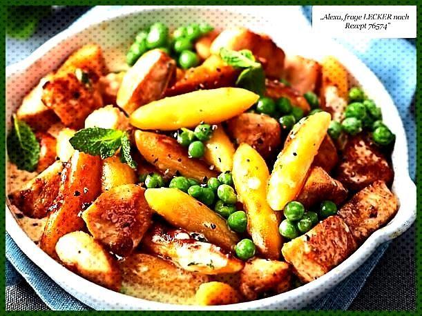 """#schupfnudelpfanne #schneller #fitness #rezepte #teller #salat Schupfnudelpfanne """"Schneller Teller""""..."""