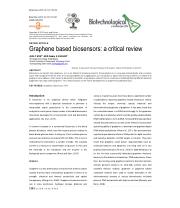 Graphene based biosensors: a critical review