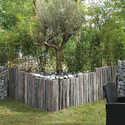 de l ardoise dans nos jardins pinterest gardens sleeper wall and garden ideas. Black Bedroom Furniture Sets. Home Design Ideas
