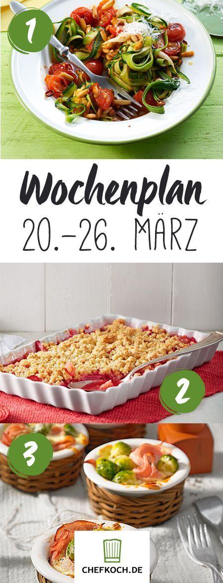 Chefkoch Wochenplan 20. - 26. März