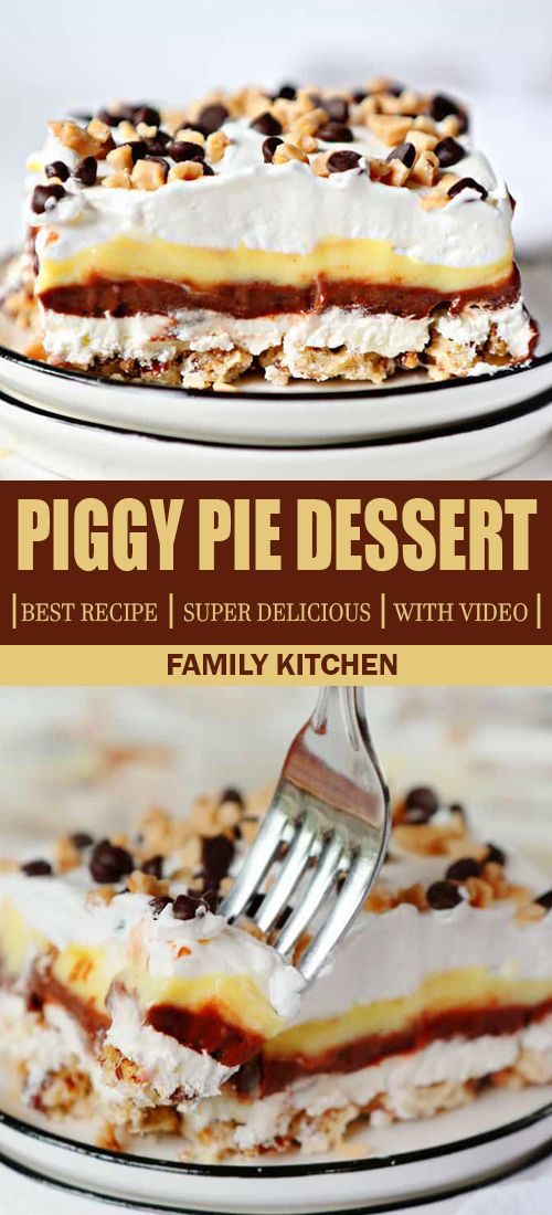 Piggy Pie Dessert Best Recipe Video Dessert Dessert Pie Recipes Desserts Best Dessert Recipes