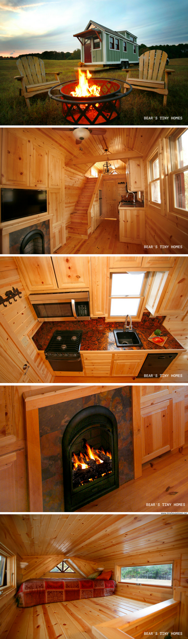 The highland  two bedroom tiny house with fireplace also living rh pinterest
