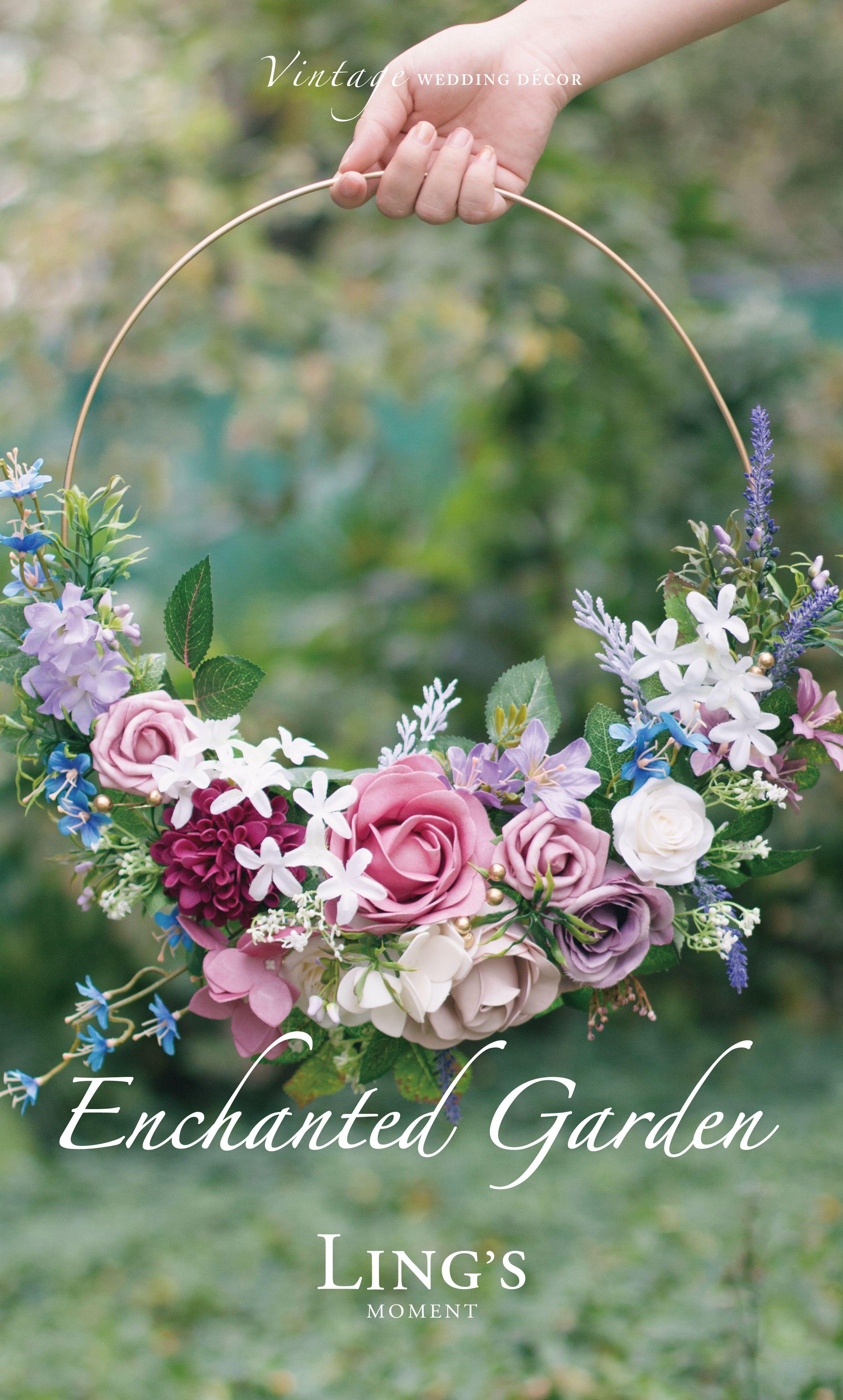 Spring Enchanted Mauve Lilac Arranjos De Flores Do Casamento