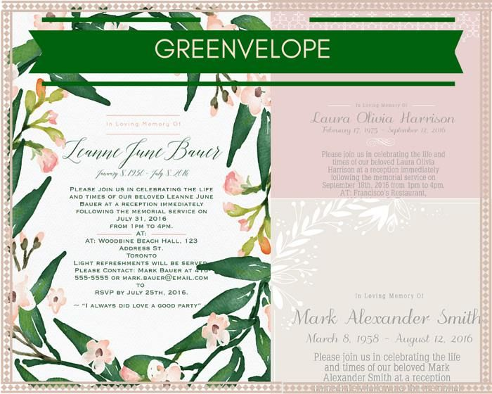 39 Best Funeral Reception Invitations Reception invitations and - memorial service invitation wording
