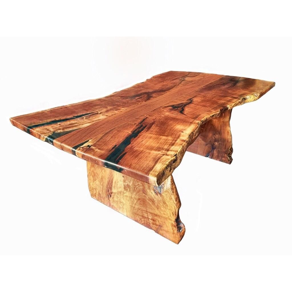 Live Edge Mesquite Rustic Dining Table 2 Wood Slab Dining Table