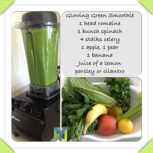 Glowing Green Smoothie For Clear And Healthy Skin! Recipe