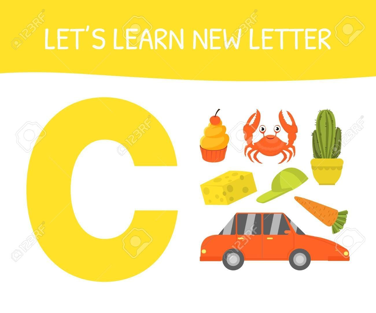 Illustration Educational Preschool Cupcake Cheese Carrot Cactus Letter Vector Learn Affi Lets Crab Preschool Kids Education Logo Educational Games [ 1083 x 1300 Pixel ]