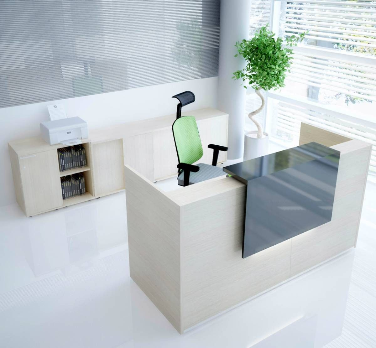 Home gt reception desks gt 8 curved maple glass top reception desk - Add Class And Elegance To Your Work Space With This Simple Yet Elegant Reception Desk Manufactured