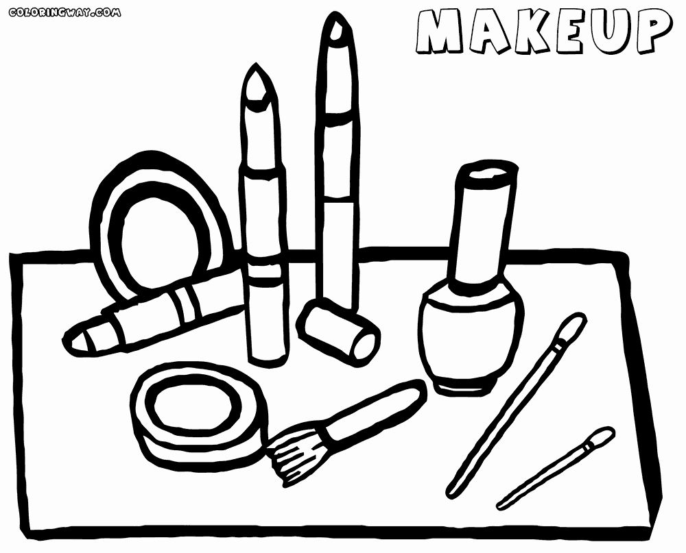 Make A Coloring Book New Makeup Coloring Pages In 2020 Colorful Makeup Makeup Kit Images Contour For Dark Skin