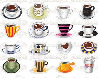 Coffee Culture Digital Frame Clipart Flourish Clip Art Digital