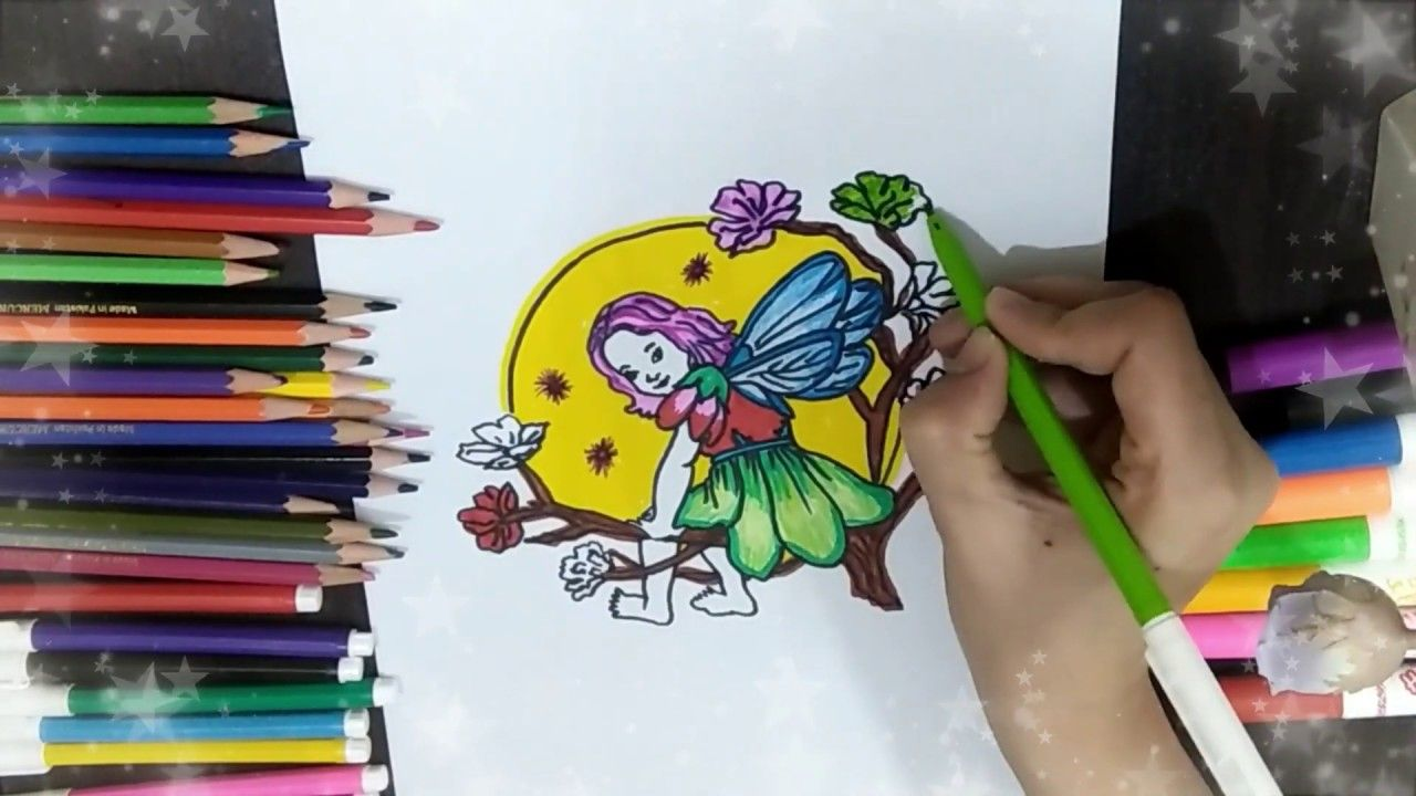 How To Draw Cute Barbie Fairy And Fill Color With Citv Cute