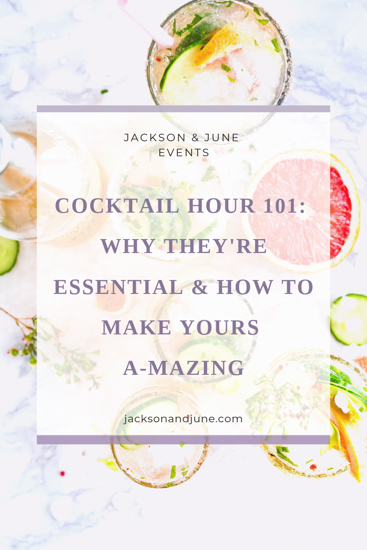 Wedding Planning. Cocktail Hour. Specialty Cocktails