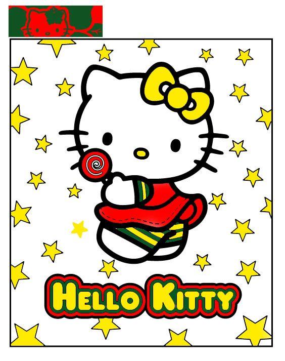 Hello Kitty In Summer By Barbie Gurl Jpg 564 713 Pixels Kleurplaten Borduren