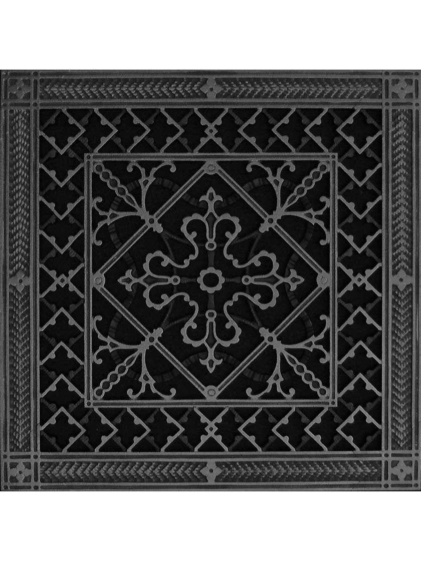 Carnegie Return Air Grille In Matte Black Matte Black Decorative Grilles Vintage Floor
