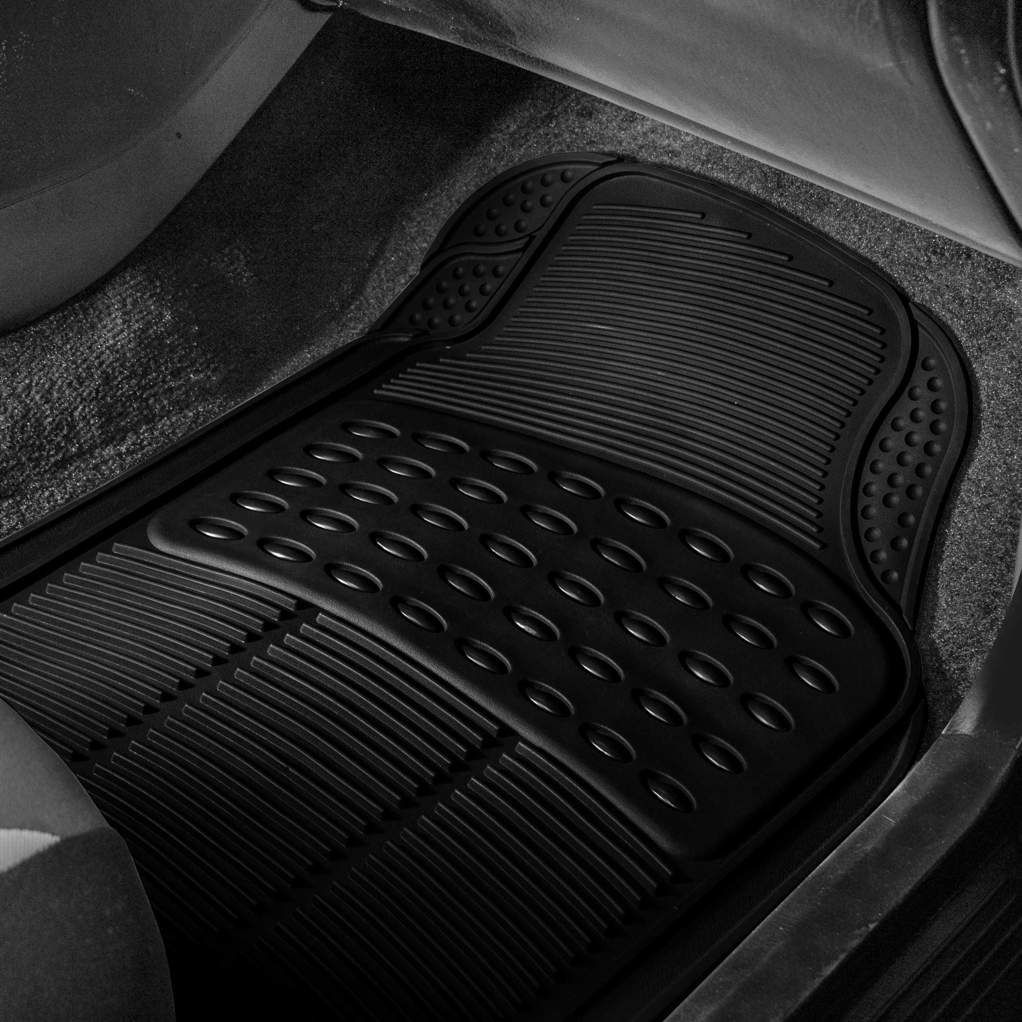 FH Group F11305BLACK Black All Weather Floor Mat 4 Piece