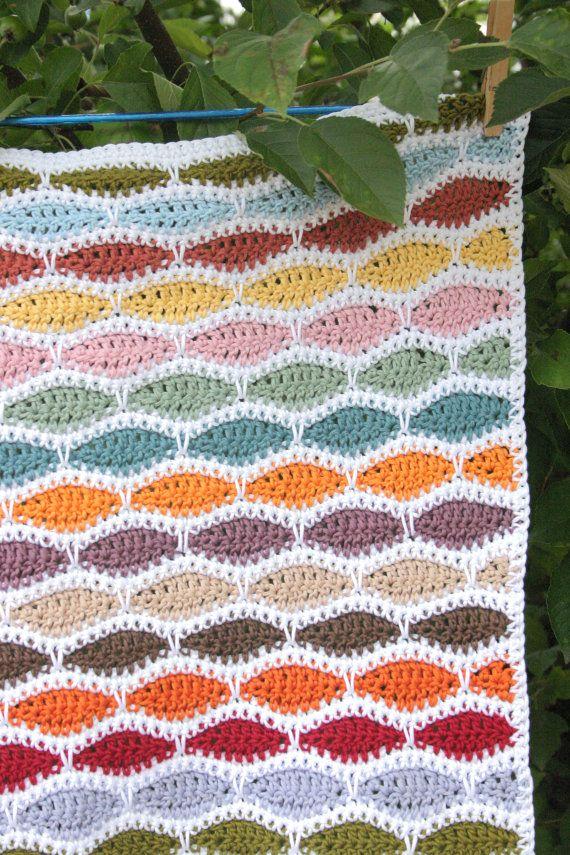 Baby Blanket Crochet Pattern Bertie PDF Instant by LittleDoolally
